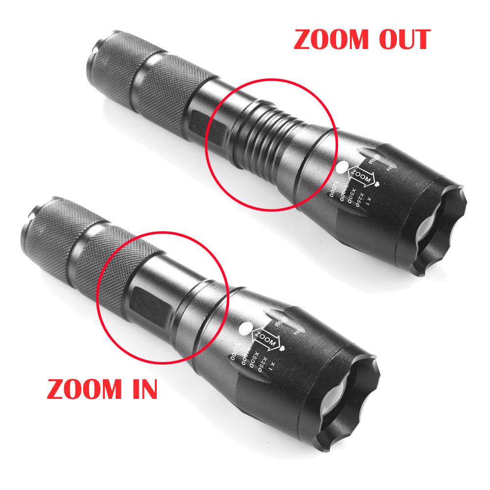 8000lm zoom led taschenlampe g700 x800 taktische milit rische flash licht grell ebay. Black Bedroom Furniture Sets. Home Design Ideas