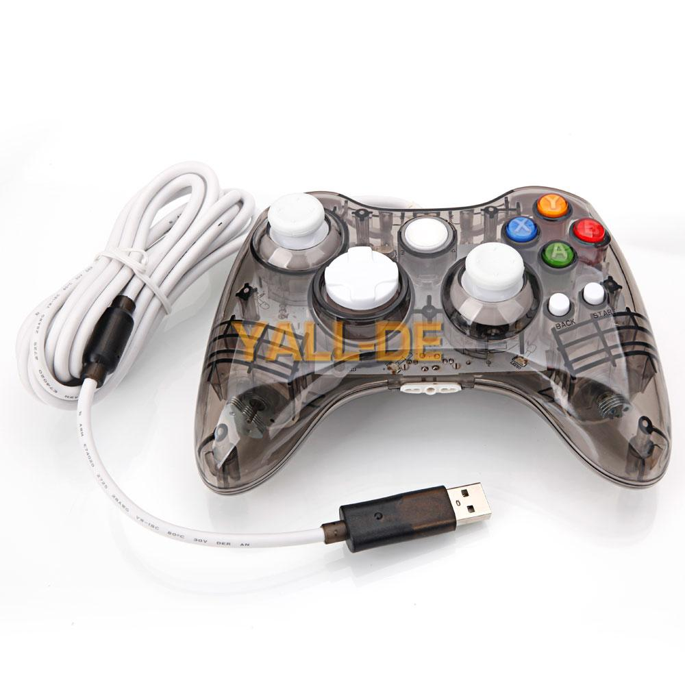wired controller gamepad f r microsoft xbox 360 pc windows. Black Bedroom Furniture Sets. Home Design Ideas