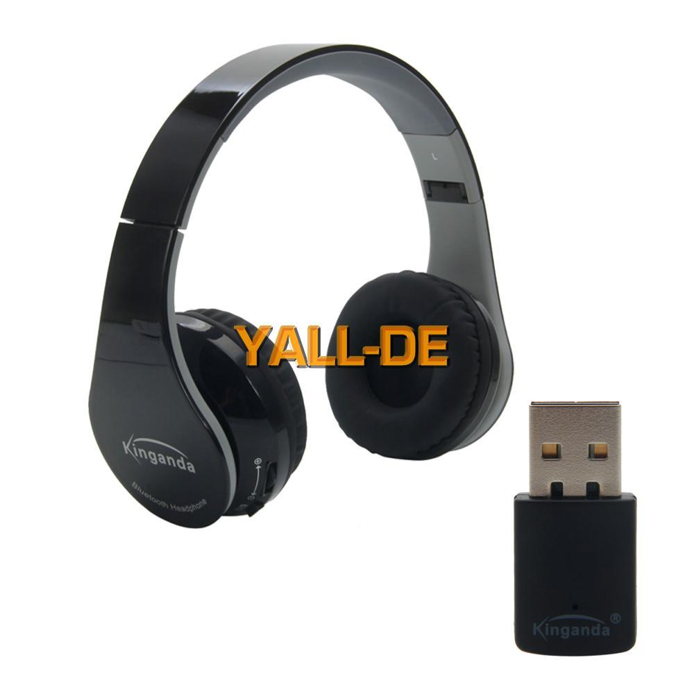 bluetooth wireless stereo headset kopfh rer mit empf nger. Black Bedroom Furniture Sets. Home Design Ideas