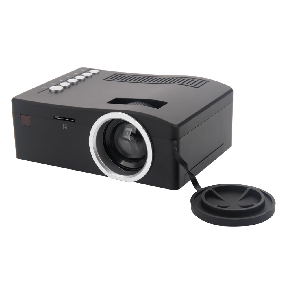 Uc18 mini micro 48 lumens led projector multimedia player for Micro hdmi projector