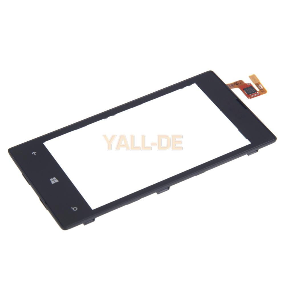 ersatzteil glas display reparatur f r nokia lumia 520 mit rahmen schwarz ebay. Black Bedroom Furniture Sets. Home Design Ideas